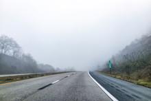 Fog Mist Road Highway Driving ...