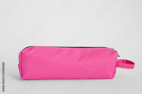 Fotomural Pencil case on white background