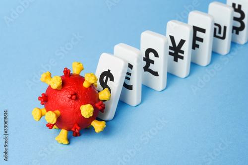 Fototapeta Coronavirus induced economic crisis obraz