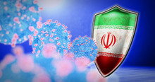 Fight Of The Iran With Coronavirus - 3D Render