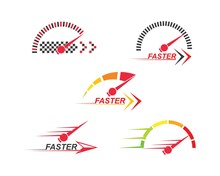 Faster Speed Logo Icon Of Auto...