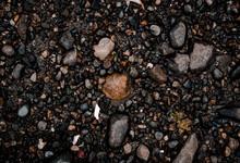 Stones On Black Background,bea...
