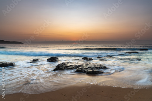 Fototapety, obrazy: Pretty Pastel Summer Sunrise by the Sea