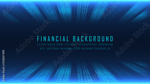 Financial background in numbers concept Wallpaper Mural