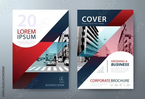 Fototapeta Annual report brochure flyer design, Leaflet presentation, book cover templates. vector. layout in A4 size. obraz