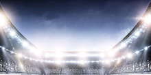 Full Night Football Arena In L...