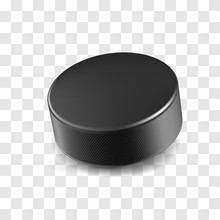Realistic Black Rubber Hockey ...