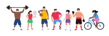 Various Sport Players Men And ...