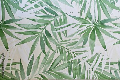 Fototapeta Modern wallpaper with palm fronds.