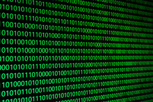 Binary Code On Digital Background