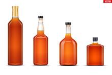 Mockup Set Of Whiskey Bottle. ...