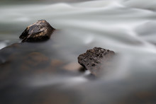 Silk Water And Brown Stone