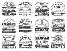 Car Service Of Retro Vehicle V...
