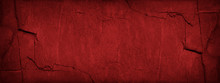 Red Abstract Background. Grunge Banner With Stone Texture. Toned Granite Texture. Red Grunge Background With Copy Space For Your Design.