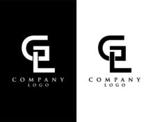 Initial Letter GL, LG Logo Tem...