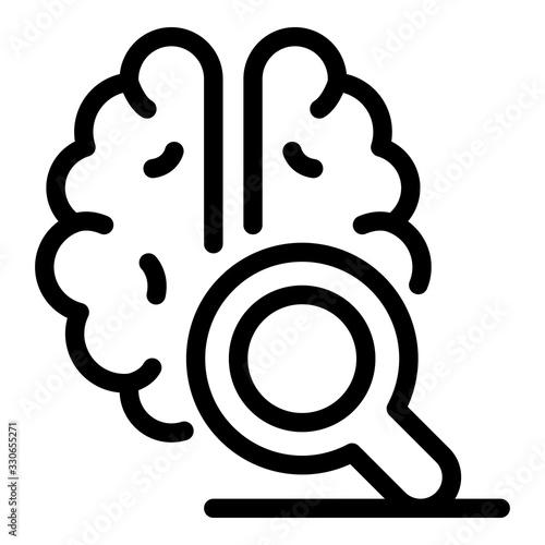 Brain emotion icon Canvas Print
