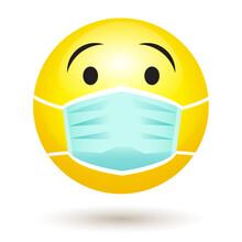 Smile Emoji Wearing A Protecti...