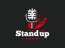 Stand Up Comedy Event Emblem D...