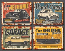 Retro Car Rusty Metal Banners ...
