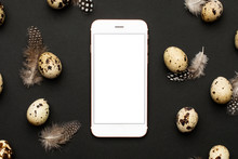 Mobile Phone And Quail Eggs Wi...