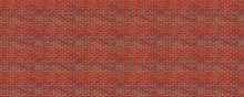 Seamless Panoramic Red Brick Wall Pattern For Background