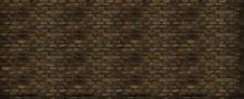 Grungy Panoramic Old Brick Wal...
