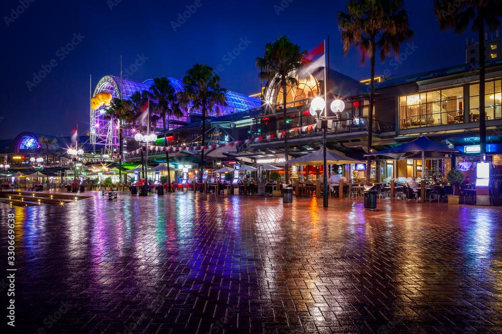 Fototapeta Harbourside of Sydney by Night