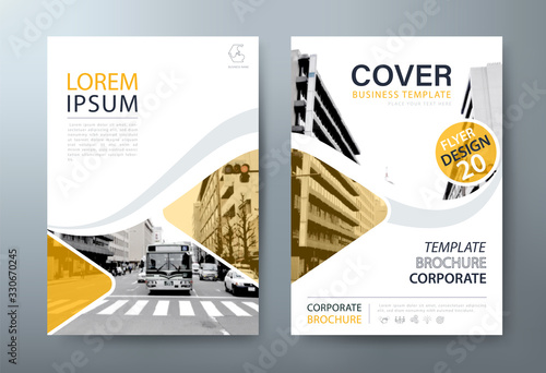 Photo Annual report brochure flyer design, Leaflet presentation, book cover templates, layout in A4 size