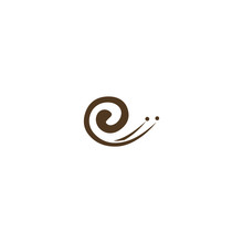 Snail Logo Vector Design Templ...