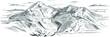 Piękny rysunek gór wykonany w technice wektorowej