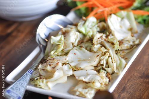 Photo stir fried cabbage, stir fried cauliflower