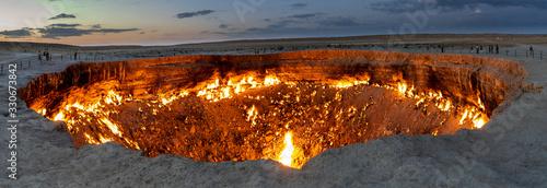 Fényképezés Panorama Darvaza Fire Crater