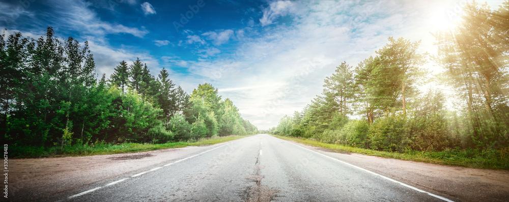 Fototapeta Road way forward direction - obraz na płótnie