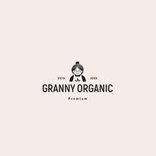Granny Organic Logo Template Vector Illustration