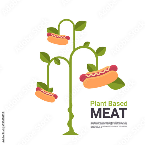 Carta da parati plant based vegetarian hot dog tree beyond meat organic natural vegan eco food c