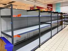 Supermarkt Mit Leeren Regalen ...