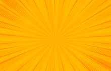 Vintage Pop Art Yellow Backgro...