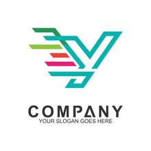 Fast Letter Y Logo In Mono Lin...