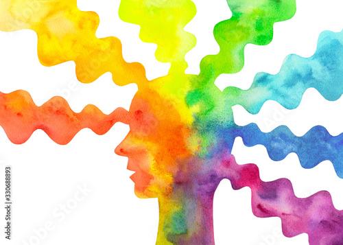Obraz Dipinto acquerello emozioni positivi - fototapety do salonu