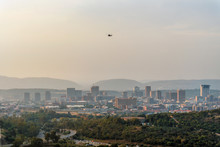 Pretoria Skyline With Helicopt...
