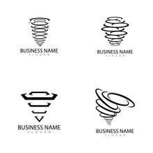 Tornado Logo And Storm Icon  V...