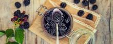 Blackberry Jam In A Jar. Selec...