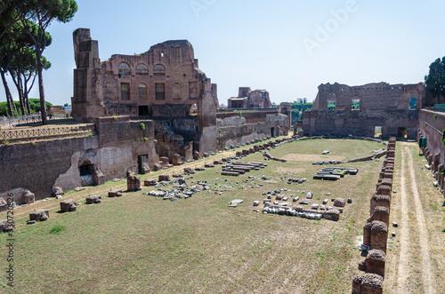 Fotografie, Obraz Palatine Stadium,   Domitian hippodrome, Rome