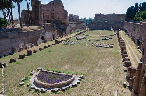 Obraz na plátně Palatine Stadium,   Domitian hippodrome, Rome