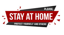 Please, Stay At Home Banner De...