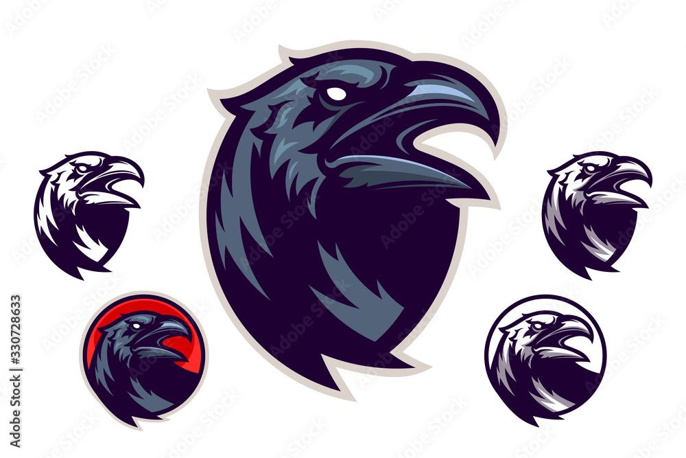 Fototapeta Raven vector emblem