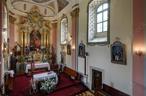 Obraz na plátne Catholic church  in Siewierz Poland