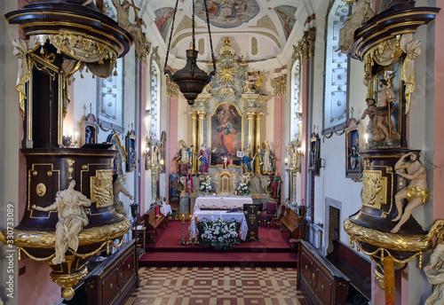 Fotografia, Obraz Catholic church  in Siewierz Poland