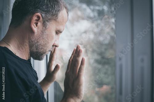 Fotografía portrait one sad man