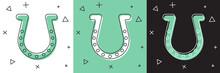 Set Horseshoe Icon Isolated On...